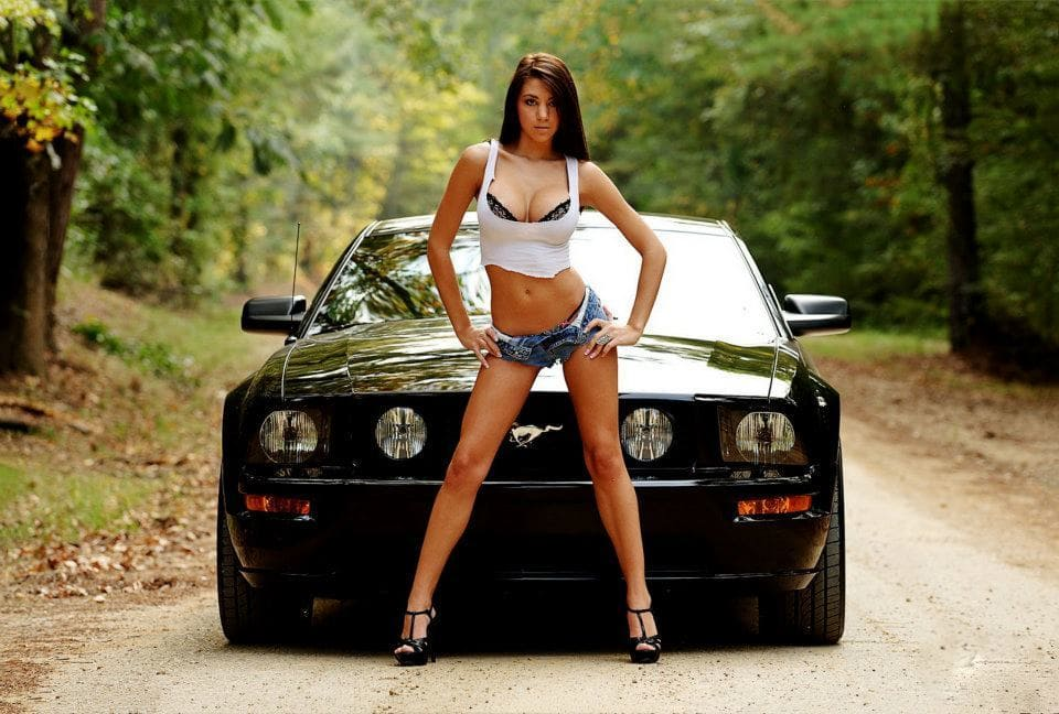 Bikini girl mustang picture puffy nipples