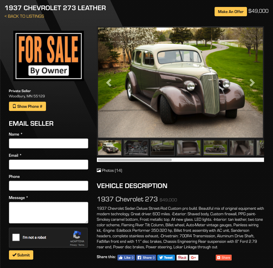 Sell Your Classic Car Online Sell My Collector Car All Collector - Classic car websites