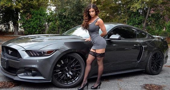 muscle car girl  collector cars